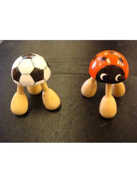 Masajeador 3 patas mariquita y balon