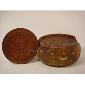 Posavasos madera tallada