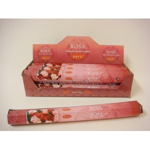 Incienso Aarti Rosa (pack 6)