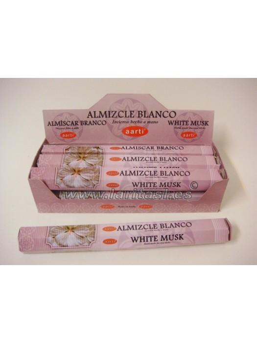 Incienso Aarti Musk Blanco (pack 6)