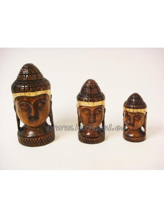 """Cabeza Budha oscura 3"""" (8cm)"""