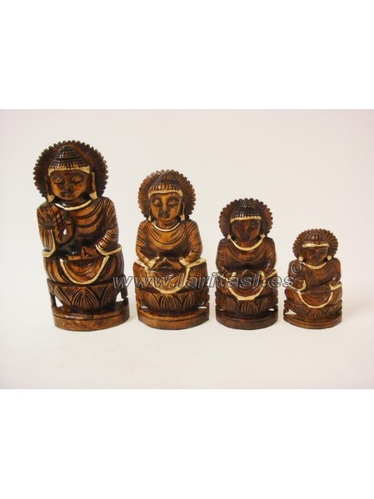 "Budha meditando sobre lotus oscuro 3"" (8cm)"
