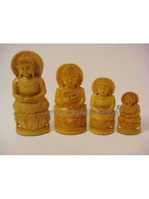 """Budha meditando sobre lotus claro 6"""" (15,5cm)"""