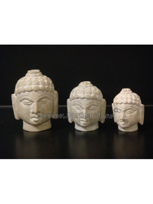 "Cabeza Budha Piedra Jabon 2,5"" (6,5cm)"