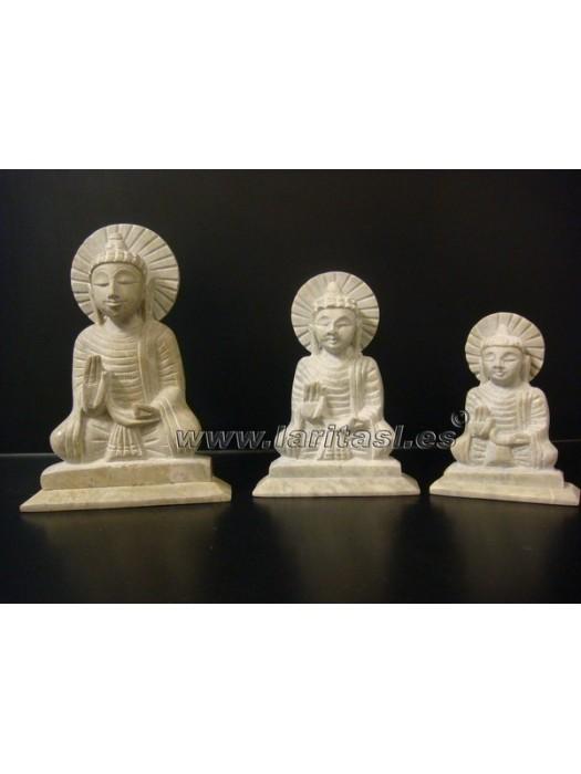 "Budha Sentado Piedra Jabón 4,5"" (12,5cm)"
