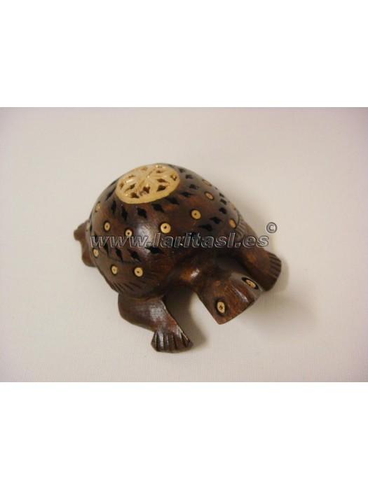 Tortuga madera decorada