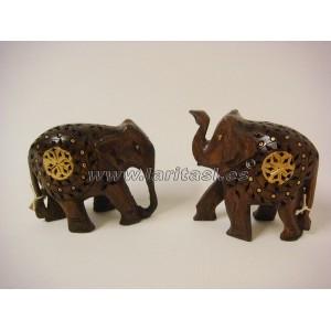 Elefante madera decorado