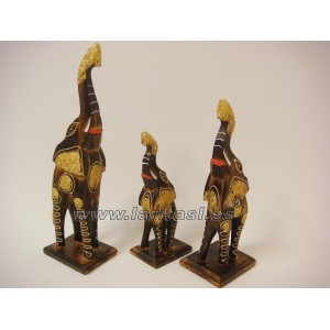 Familia Elefante madera 3 piezas