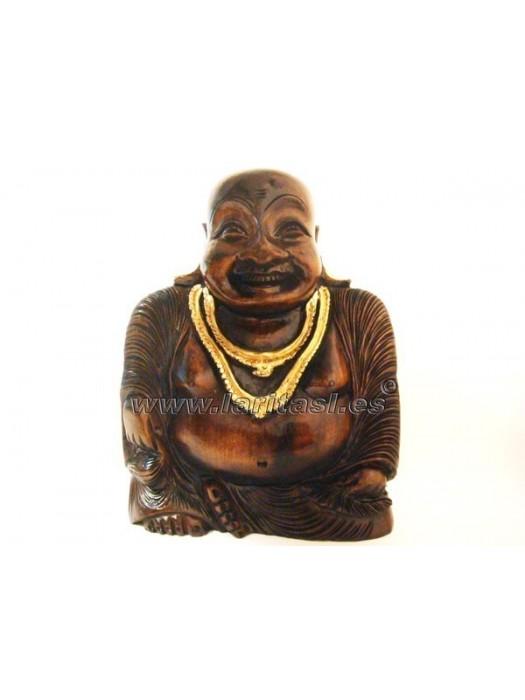 Budha sentado sonriendo 30cm