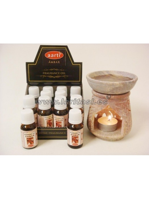 Aceite perfumado Aarti Ambar 15ml (pack 12)