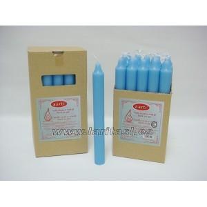 Vela Color Azul Claro 20cmx2cm +/- 8h