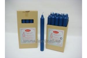 Vela Color Azul Oscuro 20cmx2cm +/- 8h
