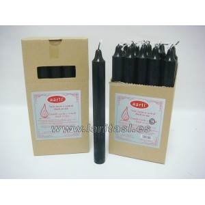 Vela Color Negro 20cmx2cm +/- 8h