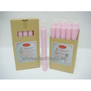 Vela Color Rosa 20cmx2cm +/- 8h