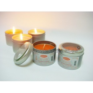 Vela Perfumada-Lata Naranja y Jengibre