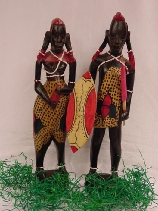 Pareja Massai 12 pulgadas(30cm)