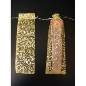 Fundas doradas para abanicos 19cm (12 piezas)