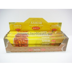 Incienso Aarti Ambar (pack 6)