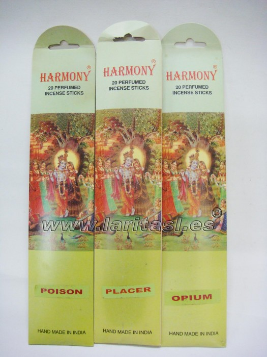 Incienso Harmony Placer (12 x 20 sticks)