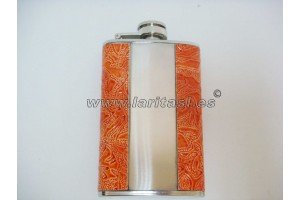 Decorated metal hipflask 5oz.